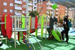 Nuevo parque infantil cubierto en Miribilla